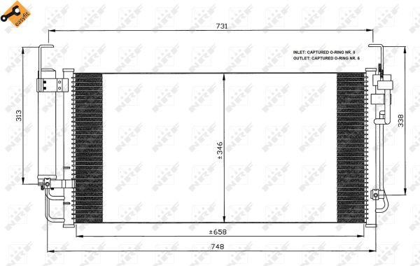 Condenseur / Radiateur de climatisation NRF 35473 (X1)