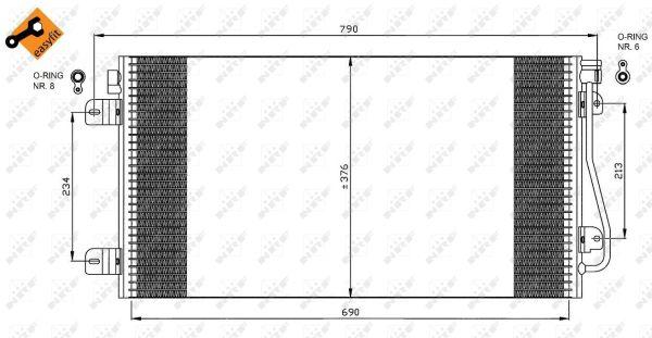 Condenseur / Radiateur de climatisation NRF 35484 (X1)