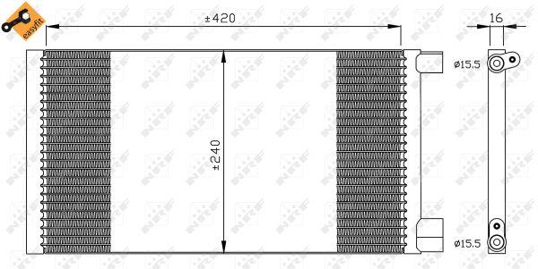 Condenseur / Radiateur de climatisation NRF 35487 (X1)