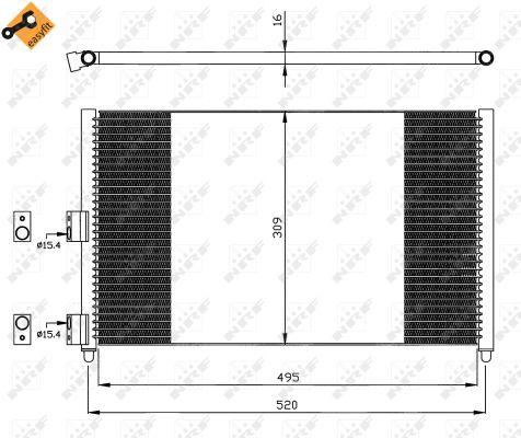 Condenseur / Radiateur de climatisation NRF 35502 (X1)