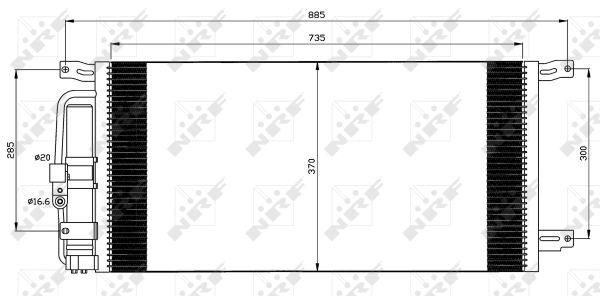 Condenseur / Radiateur de climatisation NRF 35509 (X1)
