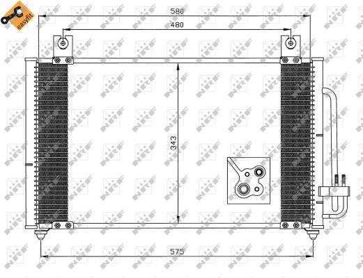 Condenseur / Radiateur de climatisation NRF 35511 (X1)