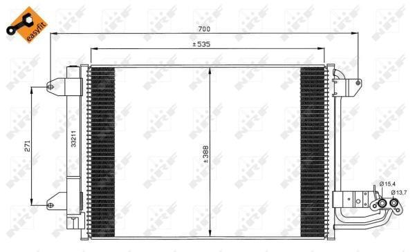 Condenseur / Radiateur de climatisation NRF 35520 (X1)
