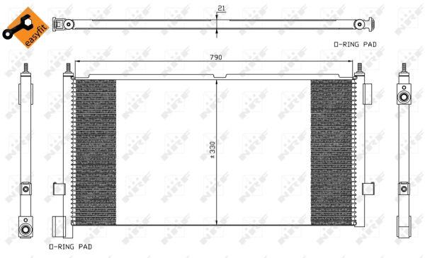 Condenseur / Radiateur de climatisation NRF 35438 (X1)