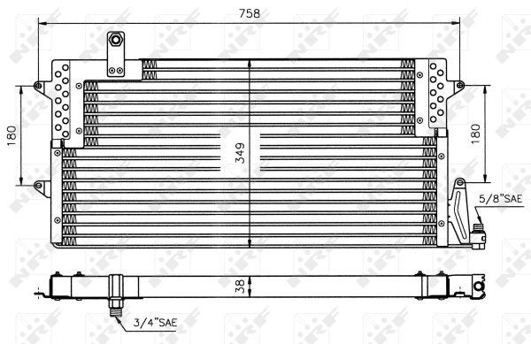 Condenseur / Radiateur de climatisation NRF 35534 (X1)