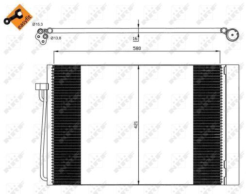 Condenseur / Radiateur de climatisation NRF 35537 (X1)
