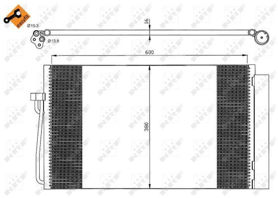 Condenseur / Radiateur de climatisation NRF 35538 (X1)