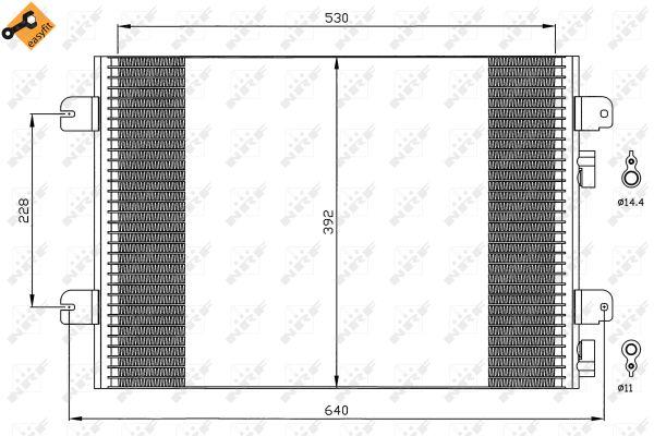 Condenseur / Radiateur de climatisation NRF 35542 (X1)