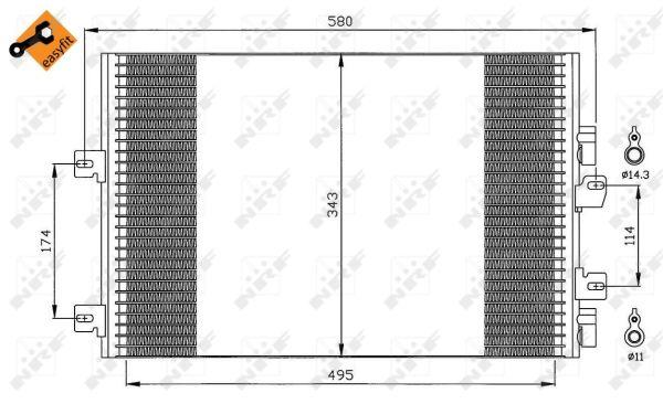 Condenseur / Radiateur de climatisation NRF 35543 (X1)