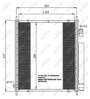 Condenseur / Radiateur de climatisation NRF 35562 (X1)