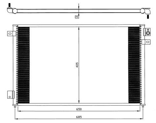 Condenseur / Radiateur de climatisation NRF 35567 (X1)