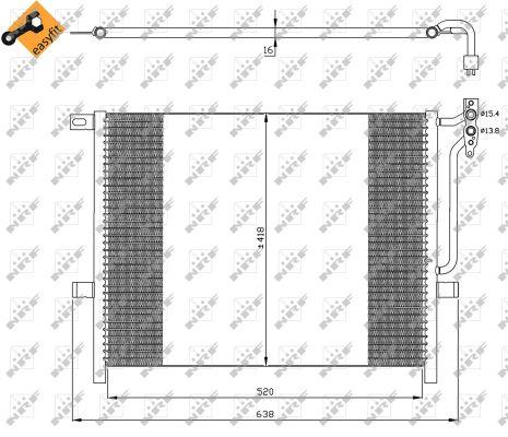 Condenseur / Radiateur de climatisation NRF 35589 (X1)