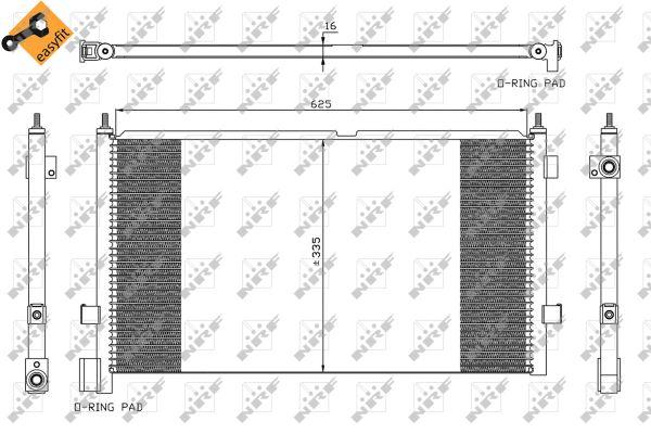 Condenseur / Radiateur de climatisation NRF 35591 (X1)