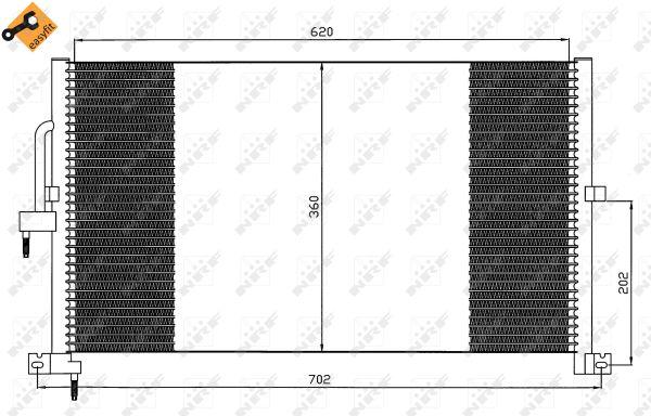 Condenseur / Radiateur de climatisation NRF 35603 (X1)