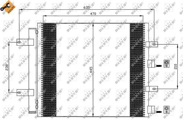 Condenseur / Radiateur de climatisation NRF 35604 (X1)