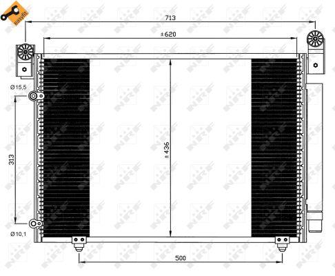 Condenseur / Radiateur de climatisation NRF 35612 (X1)