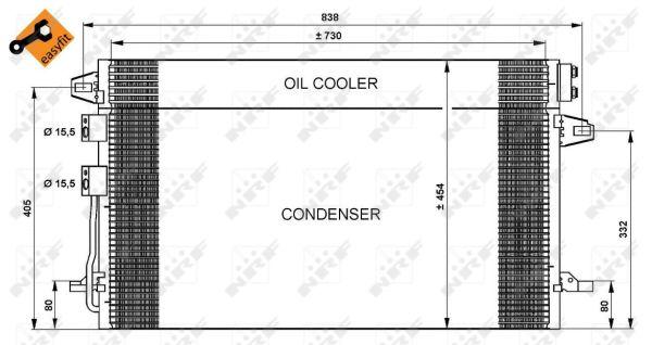 Condenseur / Radiateur de climatisation NRF 35617 (X1)
