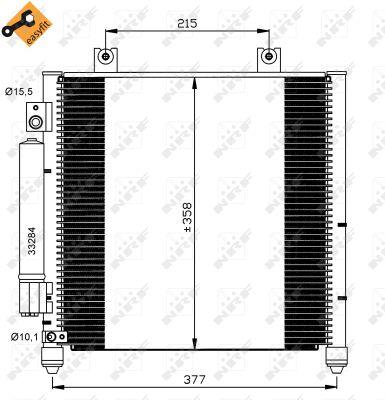 Condenseur / Radiateur de climatisation NRF 35637 (X1)