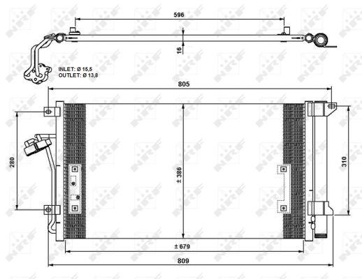 Condenseur / Radiateur de climatisation NRF 35639 (X1)