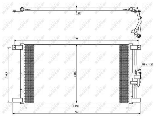 Condenseur / Radiateur de climatisation NRF 35640 (X1)
