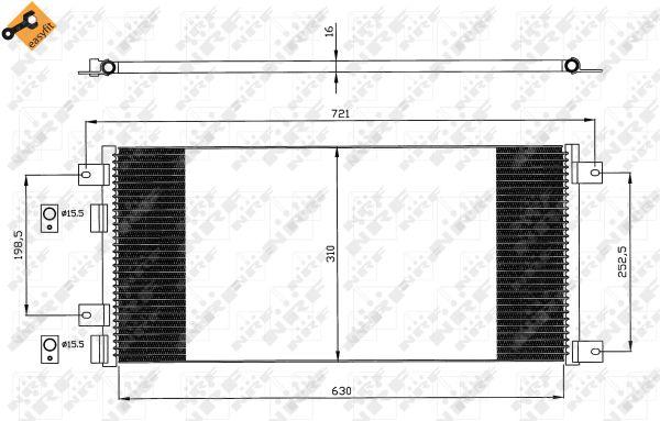 Condenseur / Radiateur de climatisation NRF 35643 (X1)
