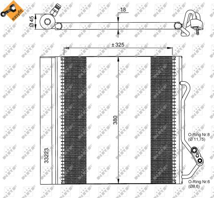Condenseur / Radiateur de climatisation NRF 35720 (X1)