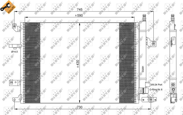Condenseur / Radiateur de climatisation NRF 35739 (X1)