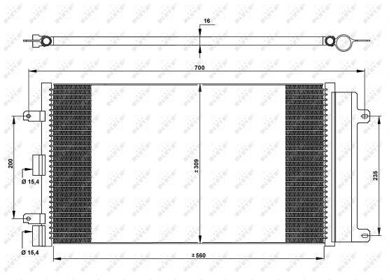 Condenseur / Radiateur de climatisation NRF 35752 (X1)