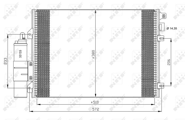 Condenseur / Radiateur de climatisation NRF 35771 (X1)