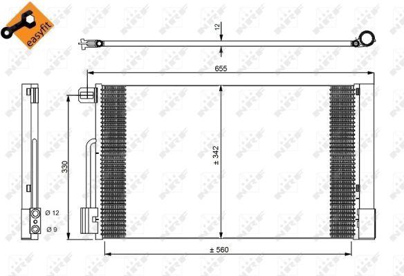 Condenseur / Radiateur de climatisation NRF 35777 (X1)