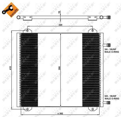 Condenseur / Radiateur de climatisation NRF 35785 (X1)