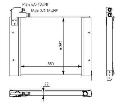 Condenseur / Radiateur de climatisation NRF 35794 (X1)