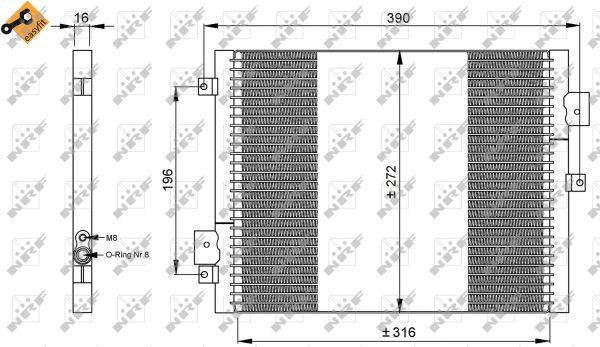 Condenseur / Radiateur de climatisation NRF 35795 (X1)
