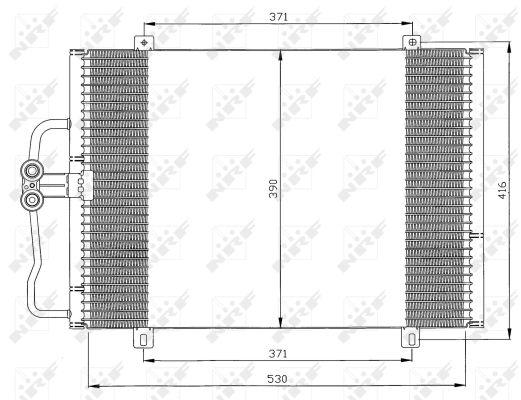 Condenseur / Radiateur de climatisation NRF 35833 (X1)
