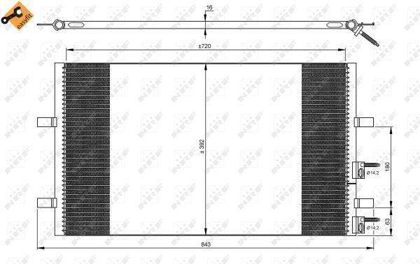 Condenseur / Radiateur de climatisation NRF 35846 (X1)