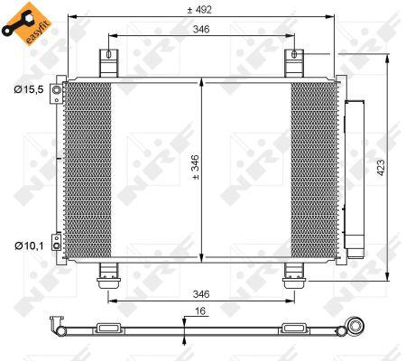 Condenseur / Radiateur de climatisation NRF 35854 (X1)