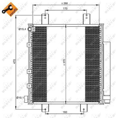 Condenseur / Radiateur de climatisation NRF 35856 (X1)