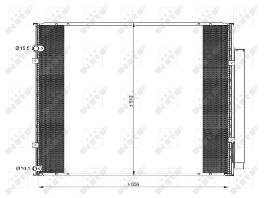 Condenseur / Radiateur de climatisation NRF 35857 (X1)