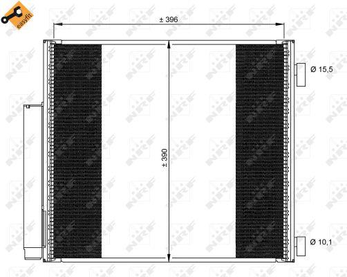 Condenseur / Radiateur de climatisation NRF 35859 (X1)