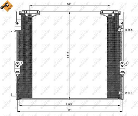 Condenseur / Radiateur de climatisation NRF 35862 (X1)