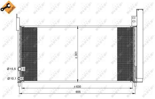 Condenseur / Radiateur de climatisation NRF 35863 (X1)