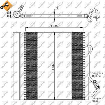 Condenseur / Radiateur de climatisation NRF 35874 (X1)