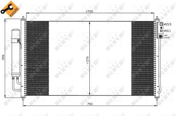 Condenseur / Radiateur de climatisation NRF 35878 (X1)