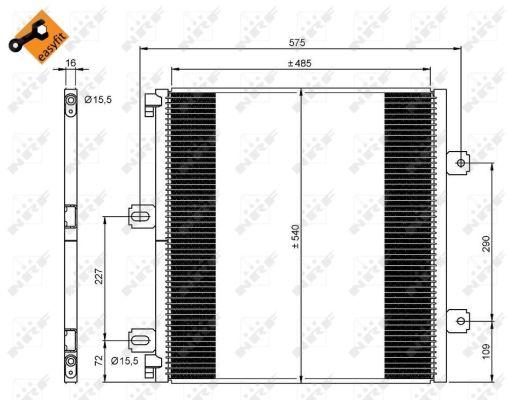 Condenseur / Radiateur de climatisation NRF 35901 (X1)