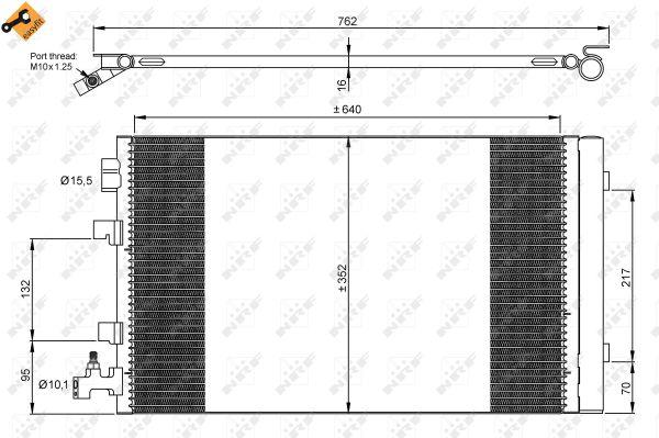 Condenseur / Radiateur de climatisation NRF 35932 (X1)