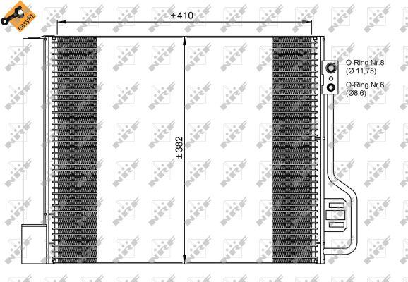 Condenseur / Radiateur de climatisation NRF 35937 (X1)