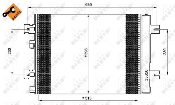 Condenseur / Radiateur de climatisation NRF 35947 (X1)