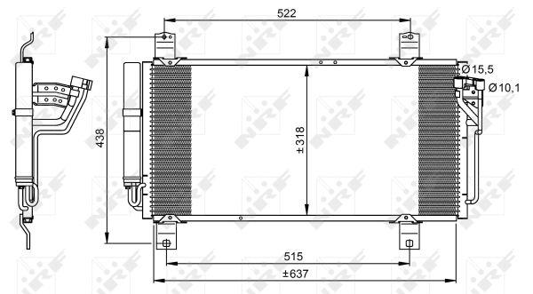 Condenseur / Radiateur de climatisation NRF 35949 (X1)