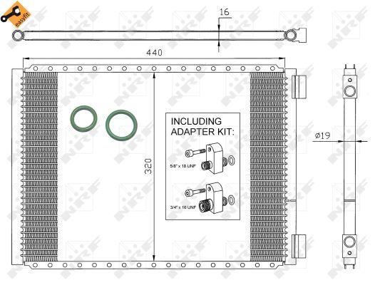 Condenseur / Radiateur de climatisation NRF 35952 (X1)