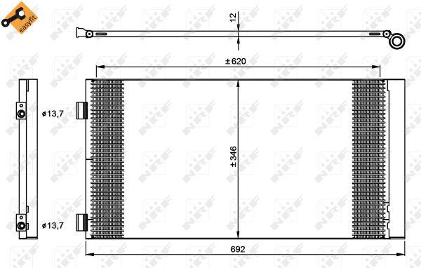 Condenseur / Radiateur de climatisation NRF 35961 (X1)